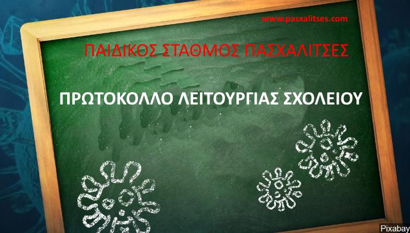 ΠΡΩΤΟΚΟΛΛΟ ΛΕΙΤΟΥΡΓΙΑΣ ΣΧΟΛΕΙΟΥ